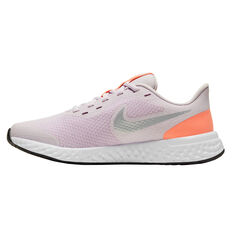 Nike Revolution 5 Kids Running Shoes Lilac/White US 4, Lilac/White, rebel_hi-res
