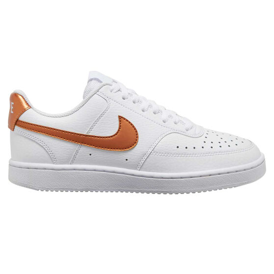 Nike Court Vision Low Womens Casual Shoes, White/Gold, rebel_hi-res