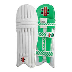 Gray Nicolls Maax 900 Cricket Batting Pads White / Green Right Hand, White / Green, rebel_hi-res