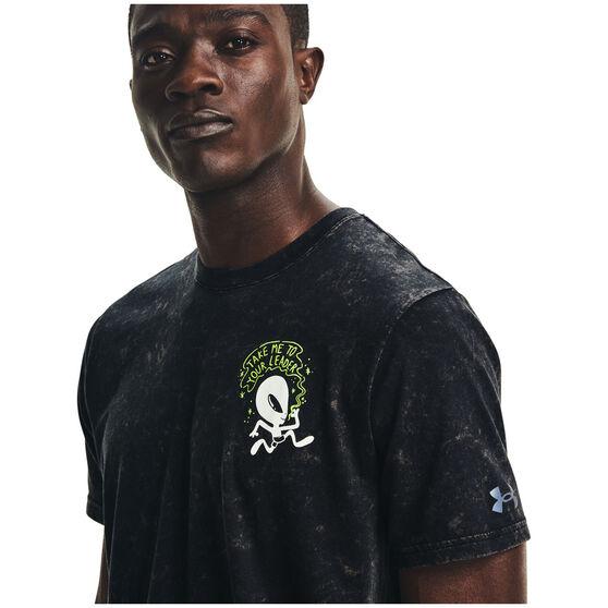 Under Armour Mens Run Ur Face Off Tee Black S, Black, rebel_hi-res