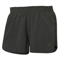 "adidas Womens Marathon 20 4"" Running Shorts Black XS, Black, rebel_hi-res"