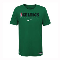 Nike Boston Celtics 2019/20 Kids Practice Tee Green S, Green, rebel_hi-res