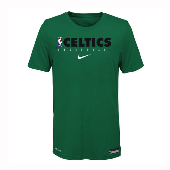 Nike Boston Celtics 2019/20 Kids Practice Tee, Green, rebel_hi-res