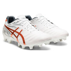 Asics Lethal Tigreor IT FF 2 Womens Football Boots, White/Gold, rebel_hi-res