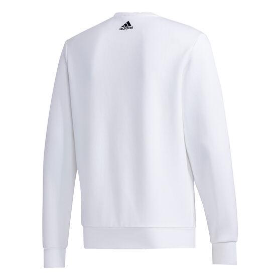 adidas Mens UB Graphic Sweatshirt, White, rebel_hi-res