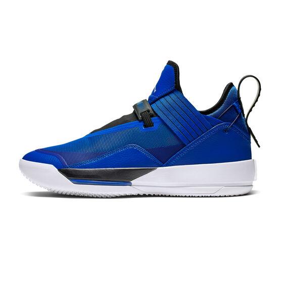 Nike Air Jordan XXXIII Mens Basketball Shoes, Blue / White, rebel_hi-res