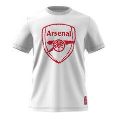 Arsenal 2020/21 Mens DNA Tee White XS, White, rebel_hi-res