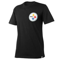 Pittsburgh Steelers Mens Drimer Tee Black S, Black, rebel_hi-res