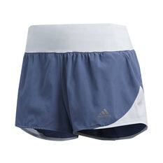 adidas Womens Run It 3in Shorts Navy XS, Navy, rebel_hi-res