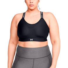 Under Armour Womens Infinity High Sports Bra, Black, rebel_hi-res