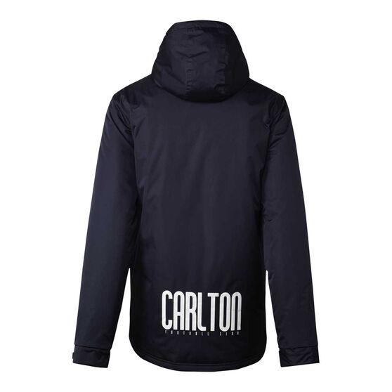 Carlton Blues 2021 Mens Retro Stadium Jacket, Navy, rebel_hi-res