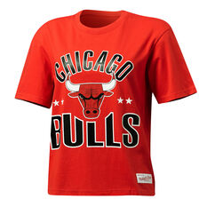 Mitchell & Ness Womens Stars Logo Chicago Bulls Tee Red XS, Red, rebel_hi-res
