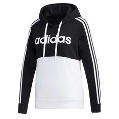 adidas Womens Essentials Colourblock Hoodie Black XS, Black, rebel_hi-res
