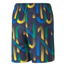 Puma Boys Neymar Jr Future Printed Football Shorts Blue XS, Blue, rebel_hi-res