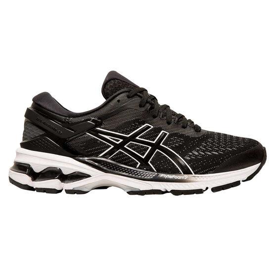 Asics GEL Kayano 26 Womens Running Shoes Black / White US 7, Black / White, rebel_hi-res