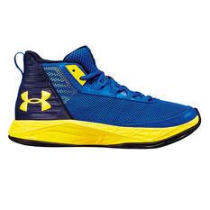 Under Armour Jet 2018 Kids Basketball Shoes Blue US 4, Blue, rebel_hi-res