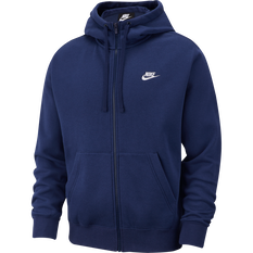 Nike Mens Sportswear Club Fleece Full-Zip Hoodie Navy XS, Navy, rebel_hi-res