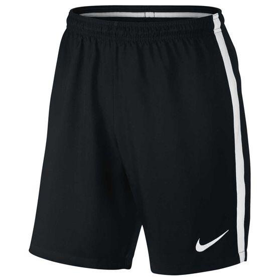 Nike Mens Dry Football Shorts, Black / White, rebel_hi-res