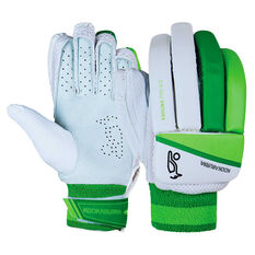 Kookaburra Kahuna Pro 8.0 Junior Batting Gloves White Youth Right Hand, White, rebel_hi-res