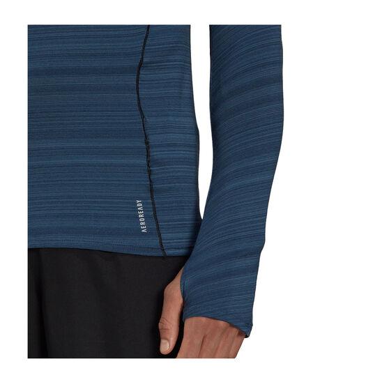 adidas Mens Runner Long Sleeve Tee, Navy, rebel_hi-res