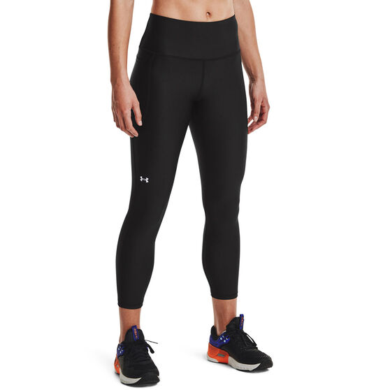 Under Armour Womens HeatGear No Slip Ankle Tights, Black, rebel_hi-res