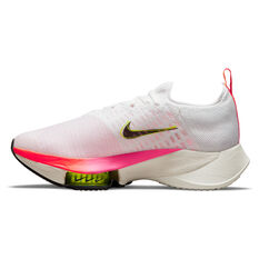 Nike Air Zoom Tempo Next% Flyknit Womens Running Shoes, White/Black, rebel_hi-res