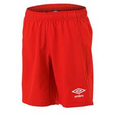 Umbro Kids Junior League Knit Shorts Red 5, Red, rebel_hi-res