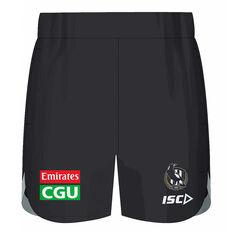 Collingwood Magpies 2020 Kids Training Shorts Black 6, Black, rebel_hi-res