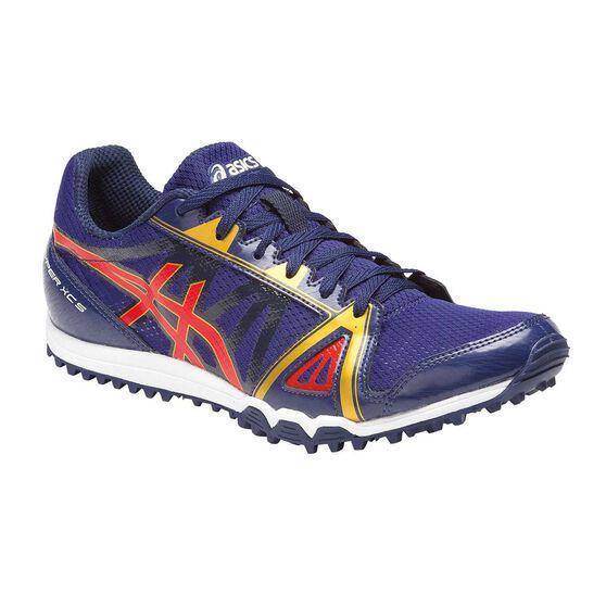 Asics Hyper XCS Mens Track and Field Shoes, Blue / Red, rebel_hi-res