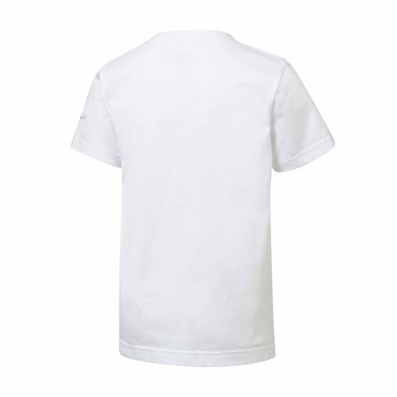 Nike Boys Block Swoosh Tee White 6, White, rebel_hi-res