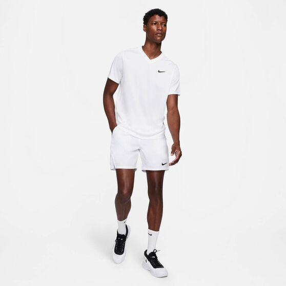 NikeCourt Dri-FIT Victory Men's Tennis Shorts White XL, White, rebel_hi-res