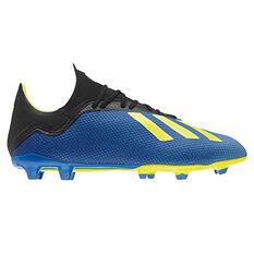 adidas X 18.3 Mens Football Boots Blue / Black US 7, Blue / Black, rebel_hi-res