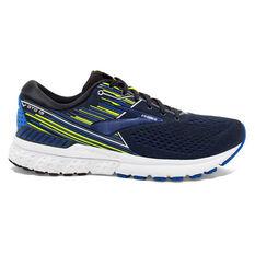 Brooks Adrenaline GTS 19 Mens Running Shoes Black / Blue US 9, Black / Blue, rebel_hi-res