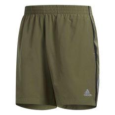 adidas Mens Own the Run 7in Training Shorts Khaki S, Khaki, rebel_hi-res