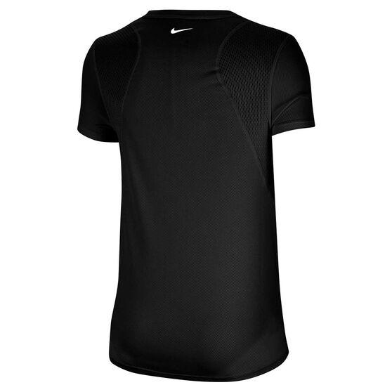 Nike Womens Icon Clash Running Tee, Black, rebel_hi-res