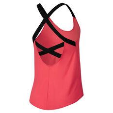 Nike Womens Dri FIT Elastika Tank Red / Black XS, Red / Black, rebel_hi-res
