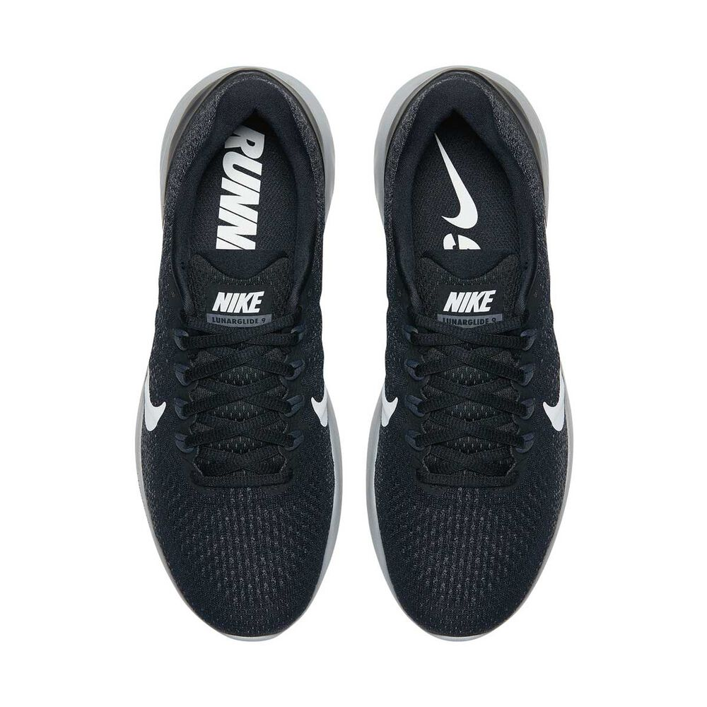 new style 6f61d 3180a Nike LunarGlide 9 Mens Running Shoes Black  White US 7, Black  White,
