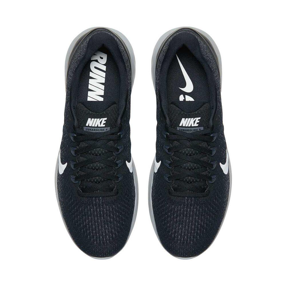 7842f9321 Nike LunarGlide 9 Mens Running Shoes Black   White US 7