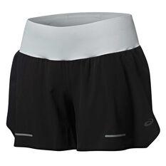 Asics Womens Lite Show Running Shorts Black S, Black, rebel_hi-res