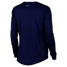 size 40 a26b7 1e9bc ... Nike Womens Miler Running Top Blue XS, Blue, rebel hi-res