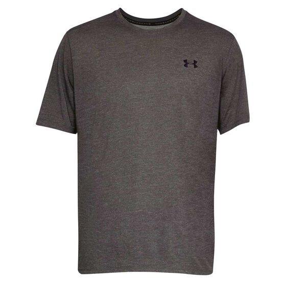Under Armour Mens Threadborne Tee, Charcoal, rebel_hi-res