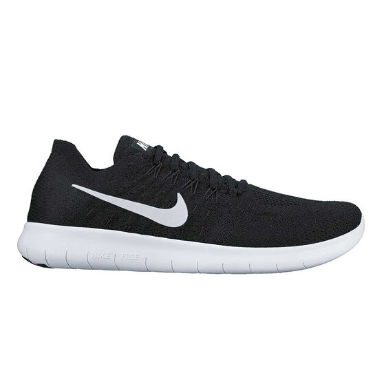 free shipping c3a2a 5b23e Nike Free Run Flyknit 2017 Mens Running Shoes Black / White US 11.5, Black /