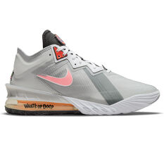 Nike LeBron 18 Low x Space Jam: A New Legacy Basketball Shoes Grey US 7, Grey, rebel_hi-res