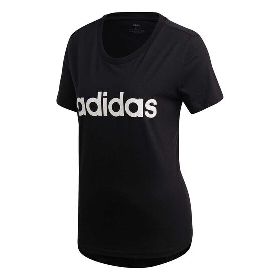 adidas Womens Essentials Linear Slim Tee Black XXL, , rebel_hi-res