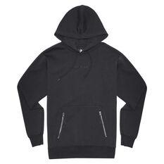 Converse Adult Court Zip Pullover Hoodie Black S, Black, rebel_hi-res