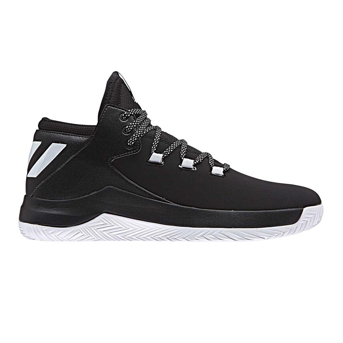 Adidas Men's D Rose Menace 2.0 Black White Basketball Shoes