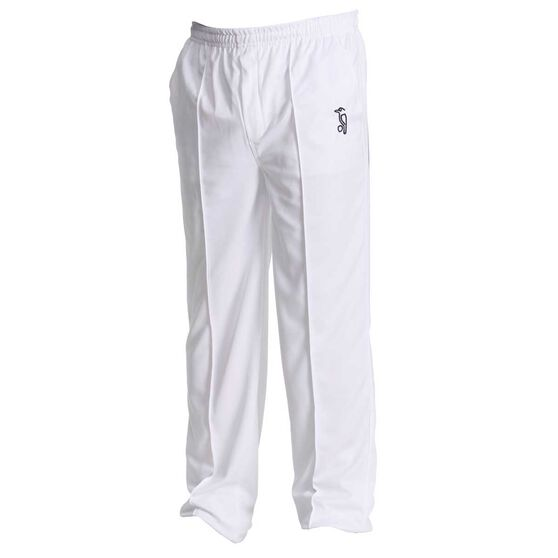 Kookaburra Active Senior Cricket Pants White XXL, White, rebel_hi-res