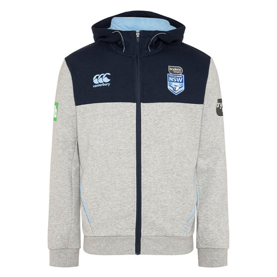 NSW Blues State of Origin 2020 Mens Zip Through Hoodie, , rebel_hi-res