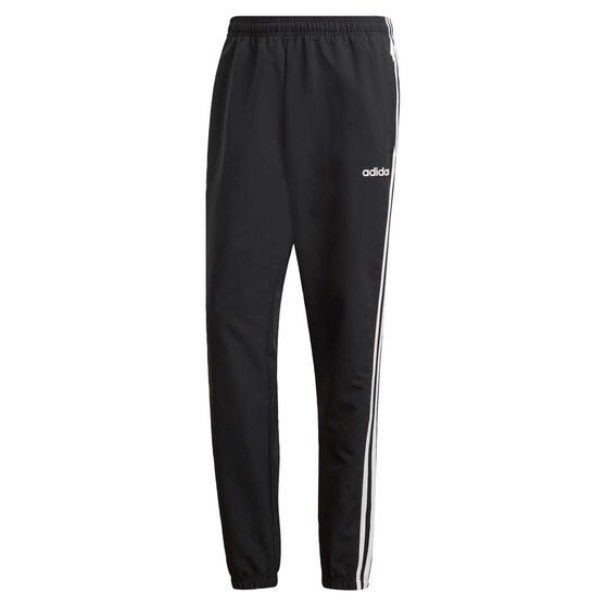 adidas Mens Essential 3-Stripes Team Wind Pants, Black / White, rebel_hi-res