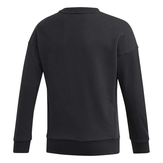 adidas Girls Badge of Sport Sweatshirt Black / Pink 6, Black / Pink, rebel_hi-res
